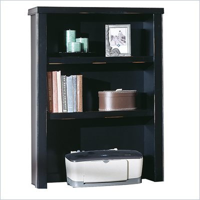 Kathy Ireland Home by Martin Furniture Tribeca Loft Black Open Hutch