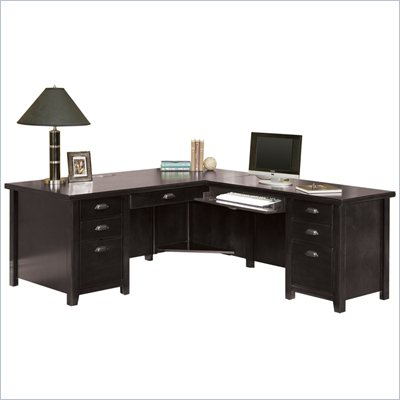 Kathy Ireland by Martin Tribeca Loft Black Right Hand Executive Desk