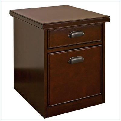 Kathy Ireland Home by Martin Furniture Tribeca Loft 2 Drawer Mobile Lateral Wood File Cabinet in Cherry