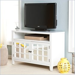 Southern Enterprises Marston TV Media Stand in White Finish