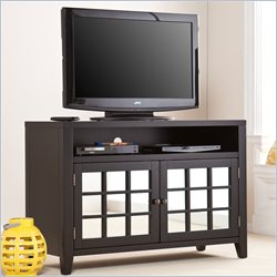 Southern Enterprises Marston TV Media Stand in Black Finish