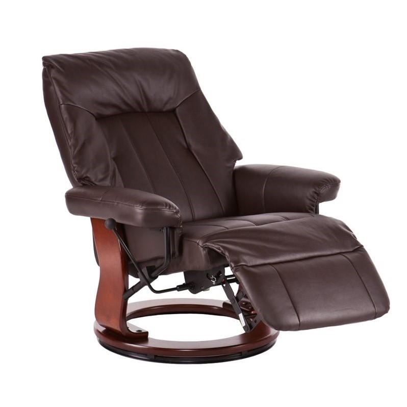 Southern Enterprises Norland Faux Leather Recliner In Kona Brown