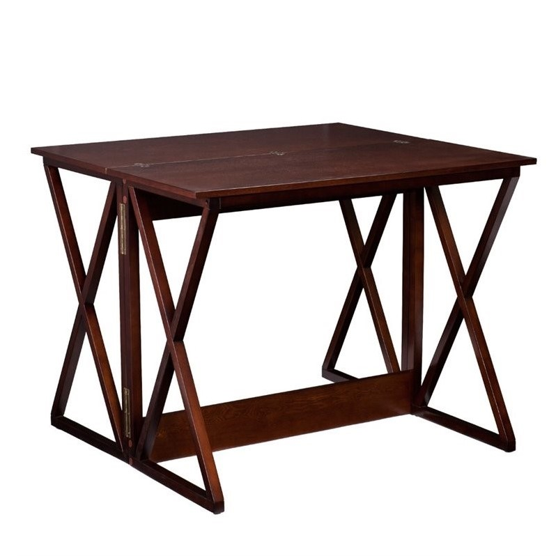 Southern Enterprises Derby Flip-Top Counter Dining Table in Espresso