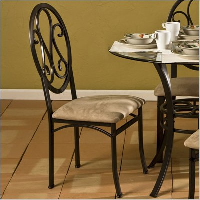 Southern Enterprises Lucianna Fabric Side Chair in Dark Chocolate (Set of 4)