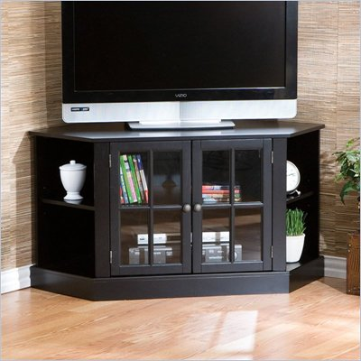 Southern Enterprises Thomas Black Corner TV Stand