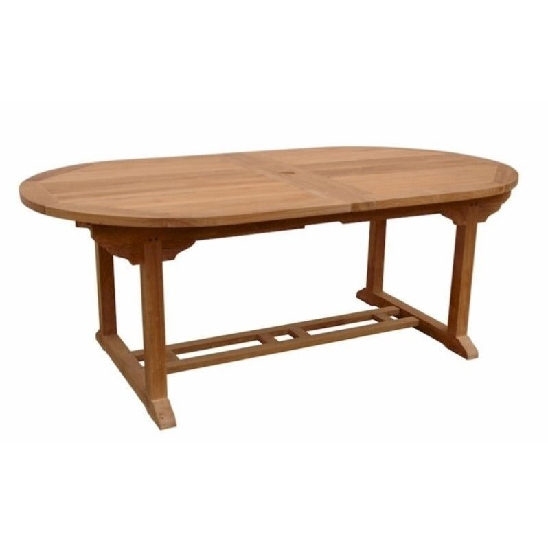 Anderson Teak Bahama Oval Butterfly Patio Dining Table in Natural