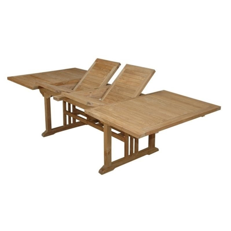 Anderson Teak Sahara 106 Butterfly Patio Dining Table in Natural