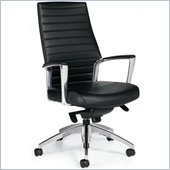 Global Accord High Back Knee Tilter Office Chair Leatherette