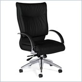 Global Total Office Softcurve Leather Office Chair with High Back and Pneumatic Tilter