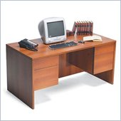 Global Adaptabilities Double Pedestal Wood Credenza Desk