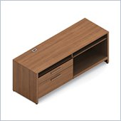 Global Princeton Left Side Credenza in Winter Cherry