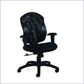 Global Tye Medium Back Tilter Chair in Jenny Ebony