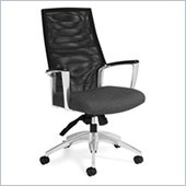 Global Accord Mesh High Back Tilter Chair in Granite Rock