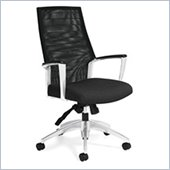 Global Accord Mesh High Back Tilter Chair in Black Coal