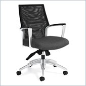 Global Accord Mesh Medium Back Tilter Chair in Granite Rock