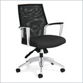 Global Accord Mesh Medium Back Tilter Chair in Black Coal