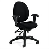 Global Malaga Low Back Multi Tilter Chair in Black