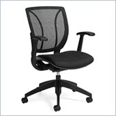 Global Roma Mesh Medium Posture Back Chair in Black