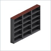 Global Total Office Adaptabilities Wall Bookcase in Cherry/Grey