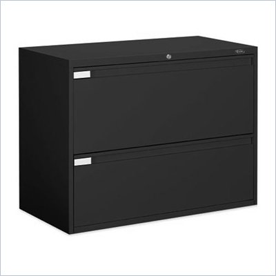 "Global Office 9300P 42"" 2 Drawer Lateral Metal File Storage Cabinet"