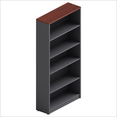 Global Total Office Adaptabilities Bookcase in Avant Cherry/Storm Grey
