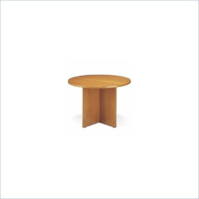 Global Total Office Round 3.5' Conference Table with X-Shaped Base