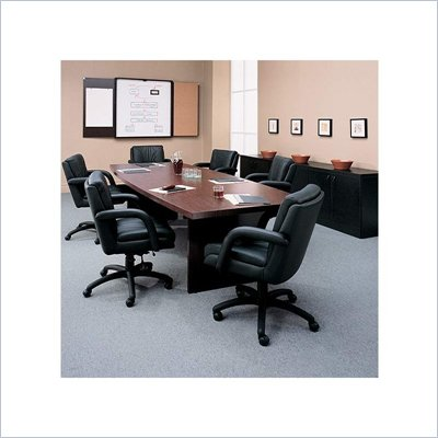 Global Total Office Boat Shaped 10' Conference Table with Slab Base