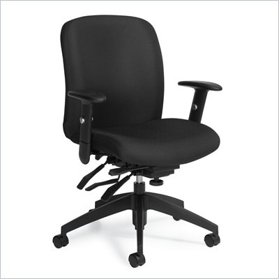 Global Truform Medium Back Multi Tilter Chair in Ebony