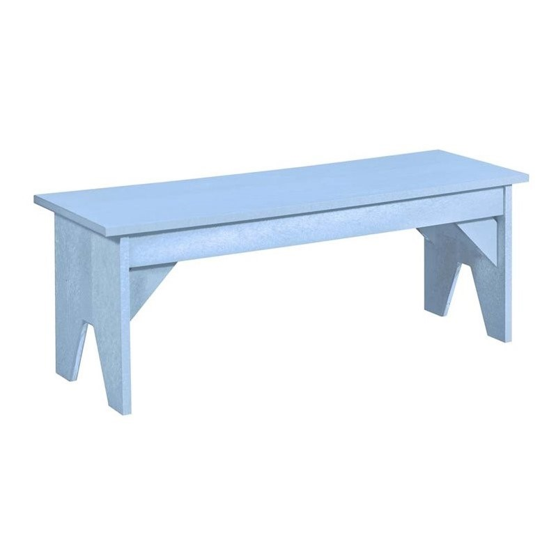 Cr Plastic Generations Lifestyle Patio Bench In Sky Blue
