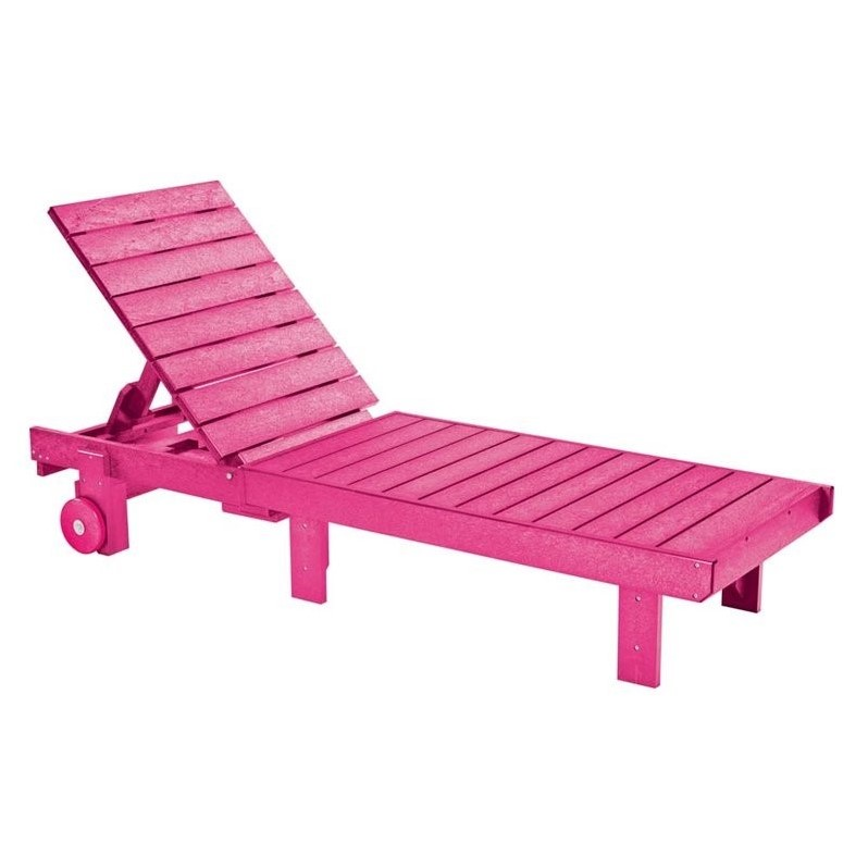 Cr Plastic Generations Patio Chaise Lounge With Wheels In Fuschia