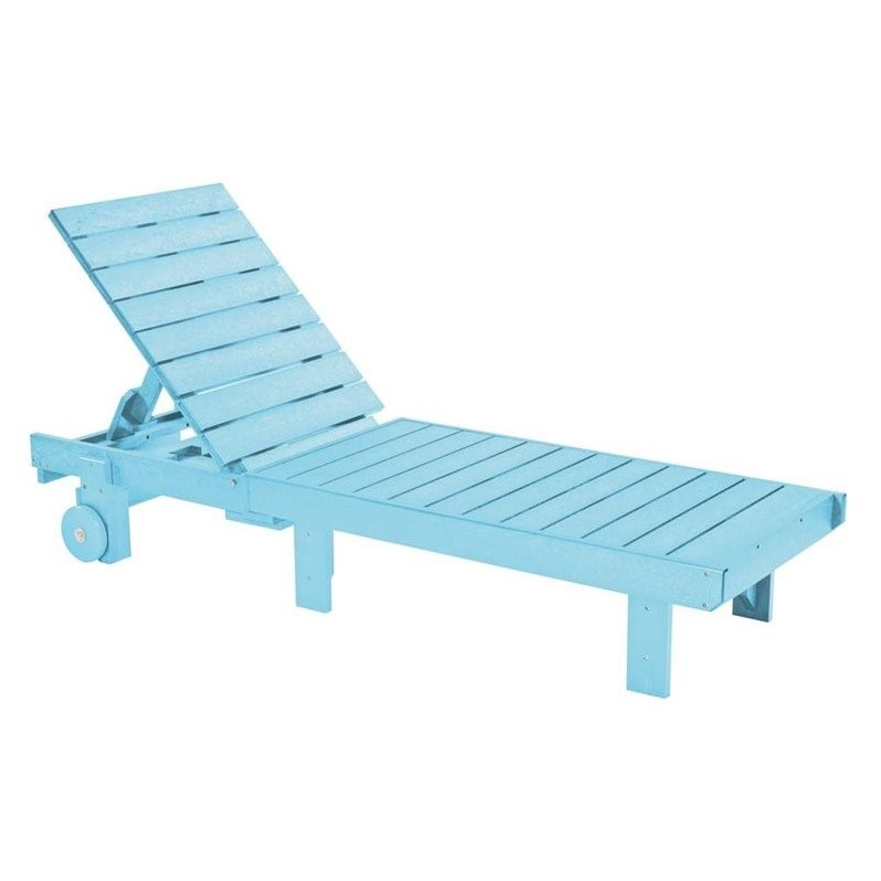 Cr Plastic Generations Patio Chaise Lounge With Wheels In Aqua