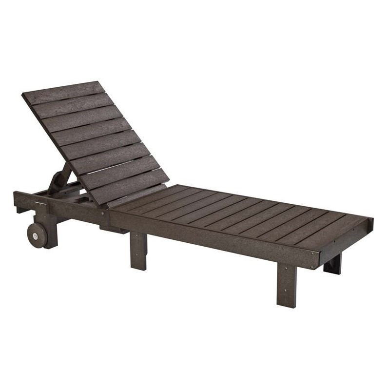 Cr Plastic Generations Patio Chaise Lounge With Wheels In Chocolate
