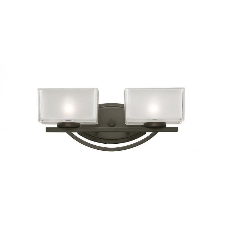 Z-Lite 3006-2v Cardine 2 Light Vanity Light, Steel Frame, Painted Bronze Finish And Clear Outside Glass Shade Of Glass Materi