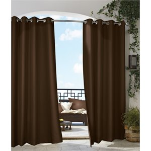 "Commonwealth Gazebo 84"" Grommet Curtain Panel in Chocolat..."