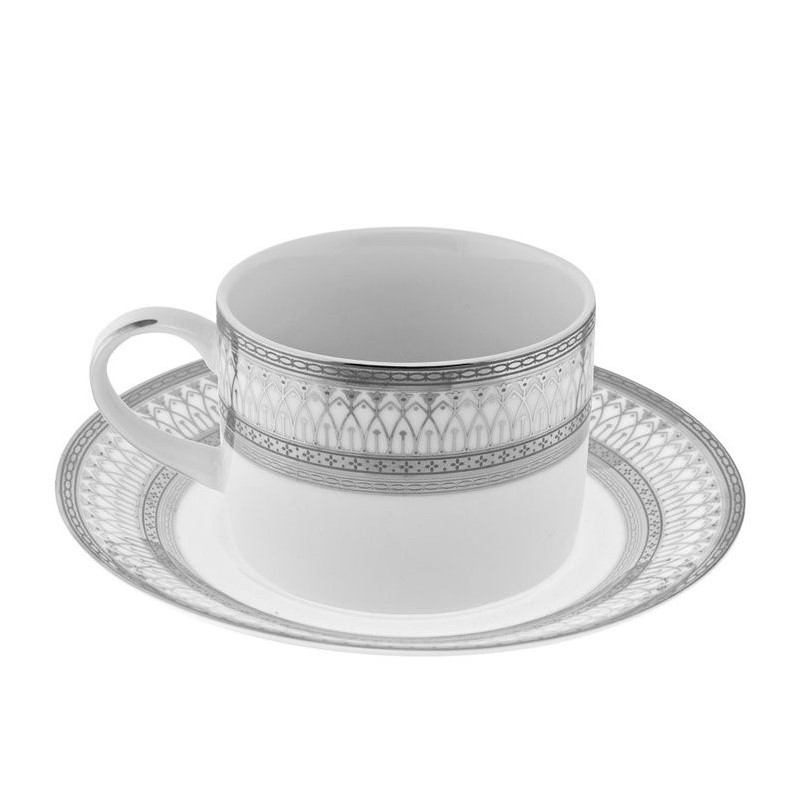 10 Strawberry Street Iriana Cup and Saucer (Set of 6)