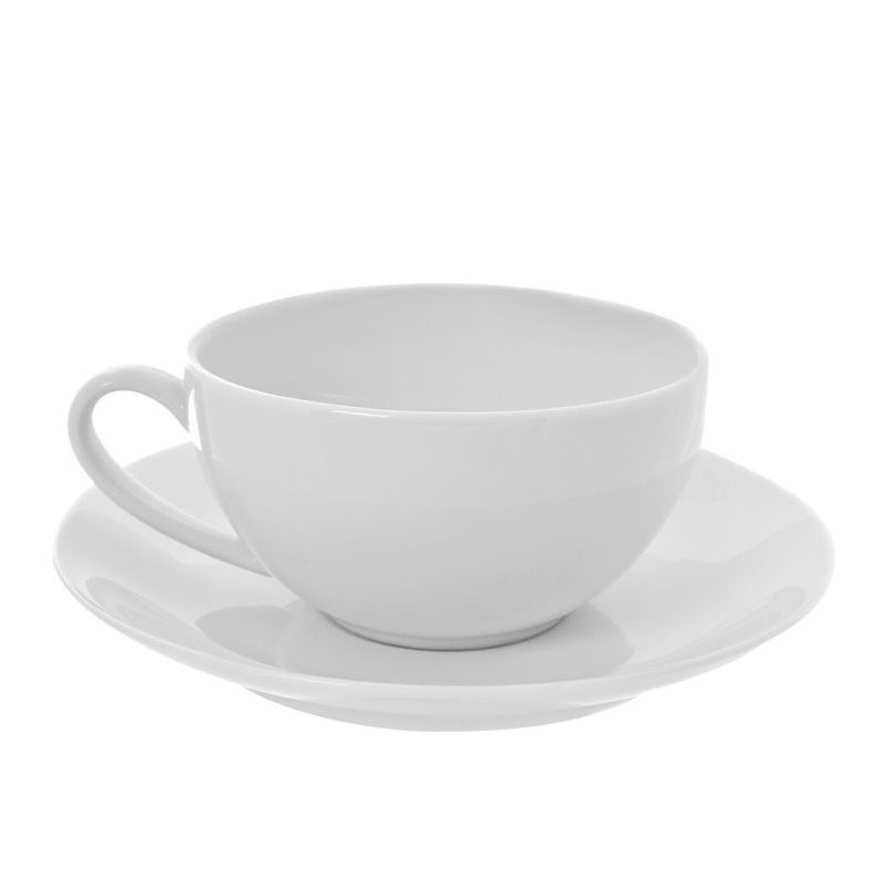 10 Strawberry Street Royal Coupe White Cup and Saucer (Set of 6) 1381393