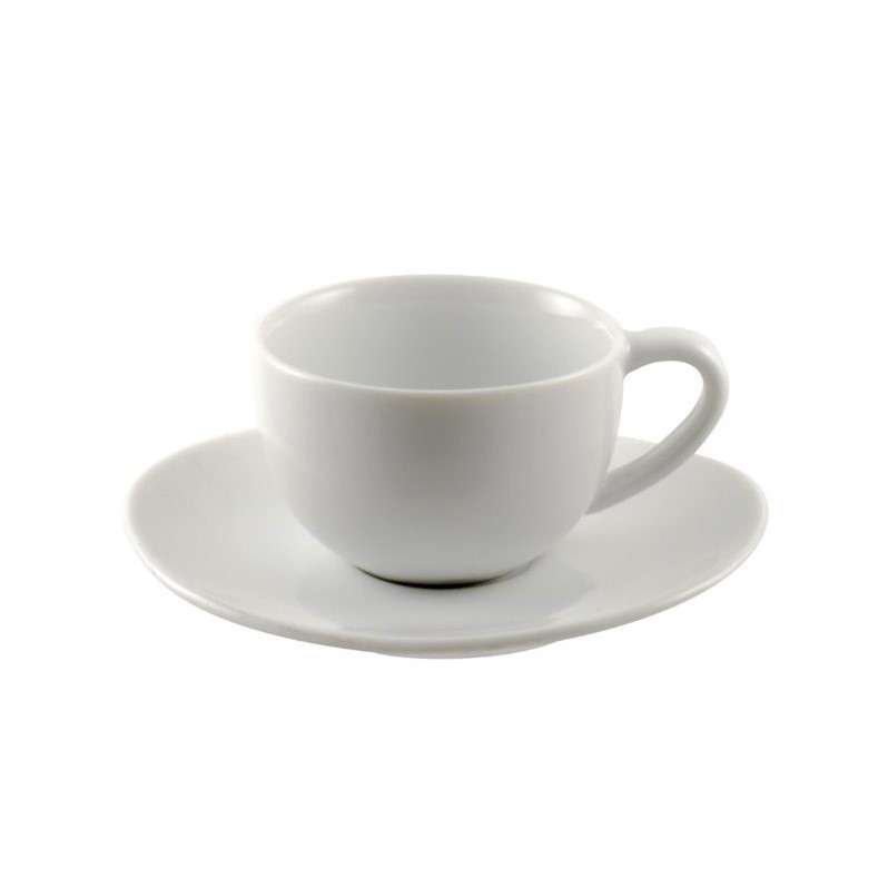 10 Strawberry Street Royal Oval White Demi Cup and Saucer (Set of 6)