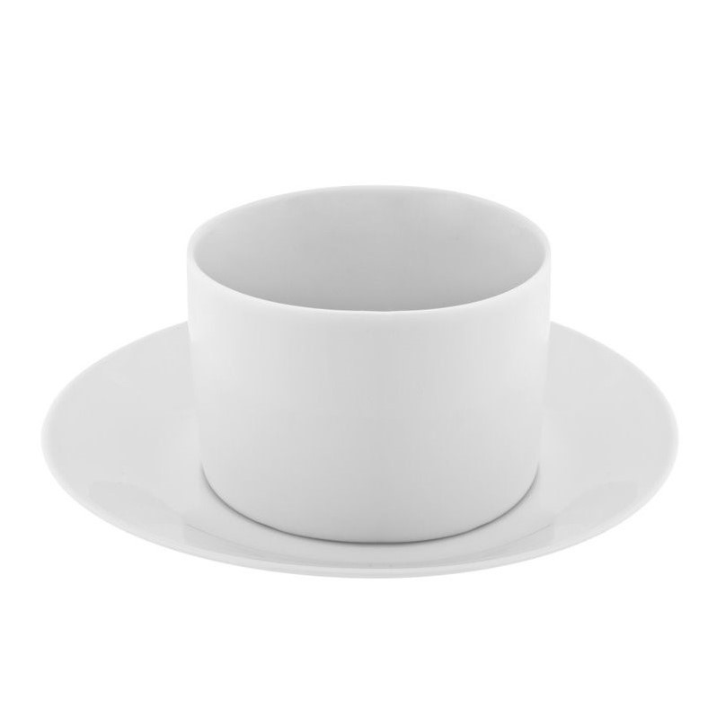 10 Strawberry Street Royal White Cup and Saucer in White (Set of 6) RW0009NOHANDLE6
