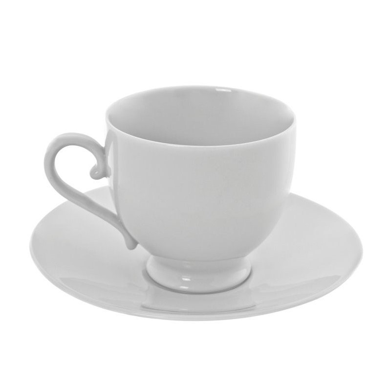 10 Strawberry Street Royal White Sophia Cup and Saucer (Set of 6) 1381421
