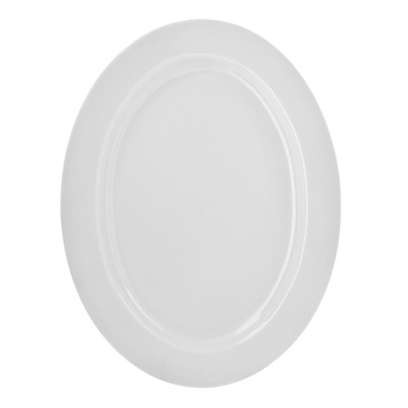 10 Strawberry Street Royal White Oval Platter in White RW0022