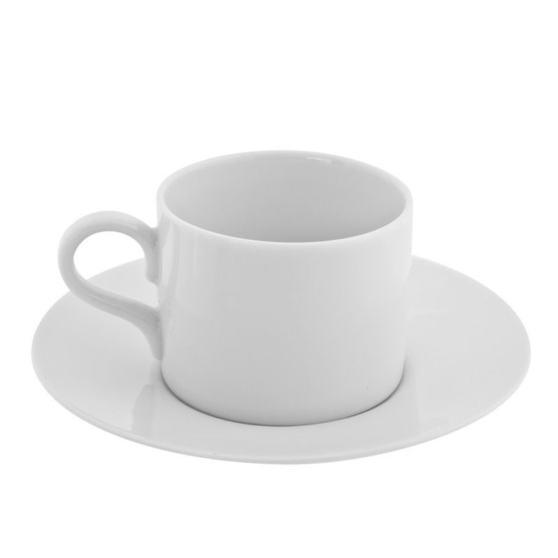 10 Strawberry Street Royal White Cup and Saucer in White (Set of 6)