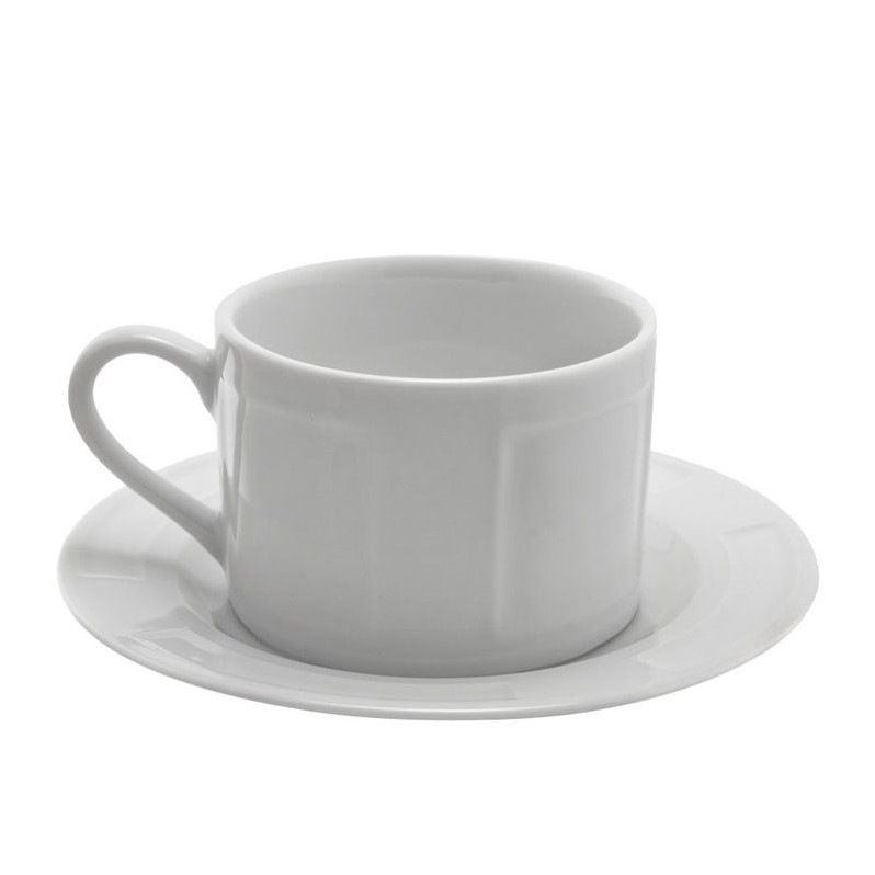 10 Strawberry Street Sorrento Cup and Saucer in White (Set of 6) SORR00096