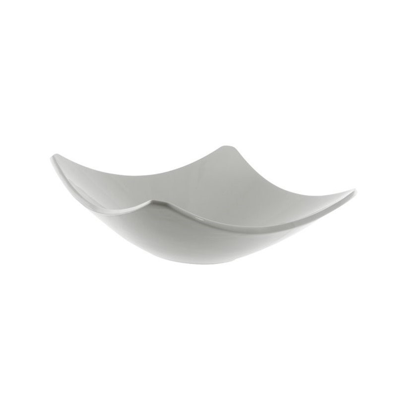 10 Strawberry Street Whittier Square Coupe Bowl in White (Set of 2) WTR-10SQCPBWL2