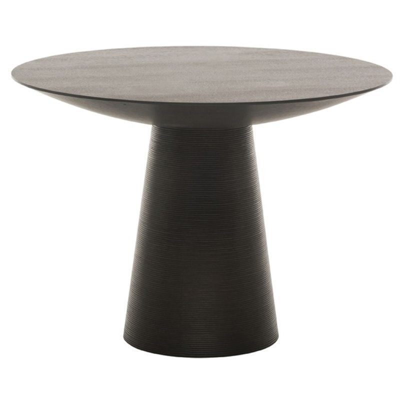 Nuevo Dania 61 Round Dining Table in Black