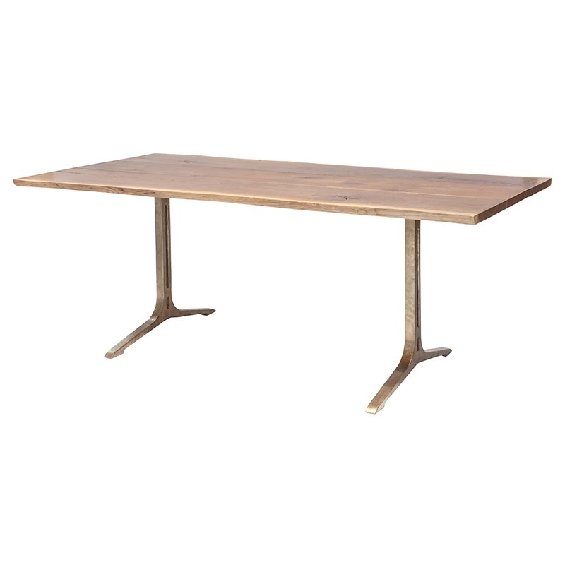 Nuevo Samara 78 Dining Table in Smoked Brown and Bronze