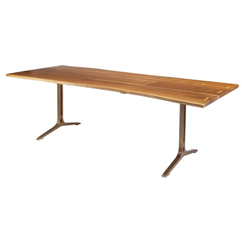 Nuevo Samara 96 Dining Table in Smoked Brown and Bronze