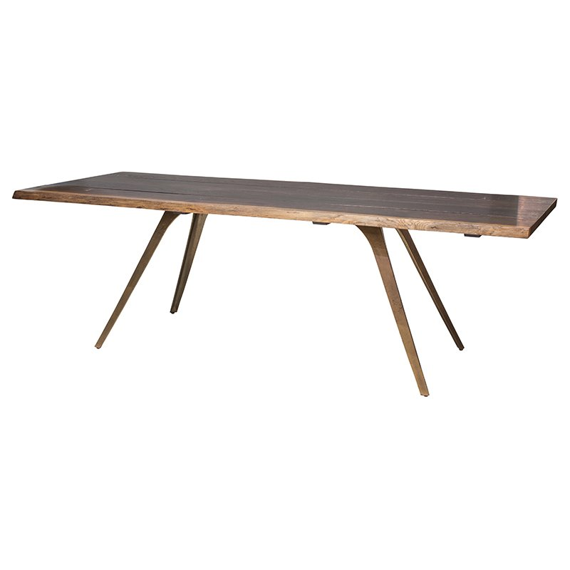 Nuevo Vega Dining Table in Seared Brown and Bronze