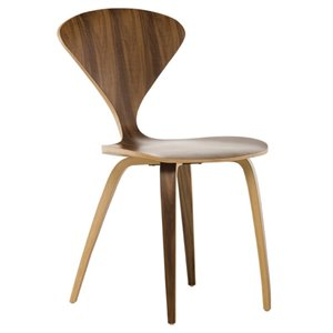 Nuevo Satine Dining Side Chair in Walnut