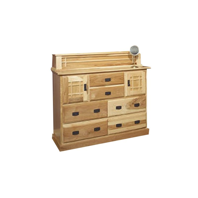 A-America Amish Highlands 7 Drawer Mule Chest in Natural
