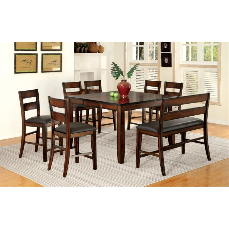 Furniture of America Arlen Extendable Counter Height Dining Table